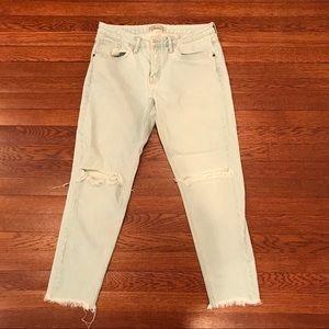 Zara Lightwash Distressed Jeans